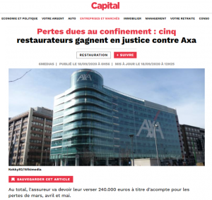 Article Capital Perte d'exploitation assurance