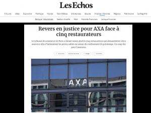Les Echos perte exploitation restaurateurs