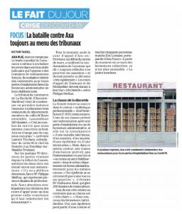 Article parisien Guillaume Aksil AXA assurance restaurants